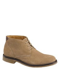 Johnston And Murphy Copeland Leather Chukka Boots Taupe
