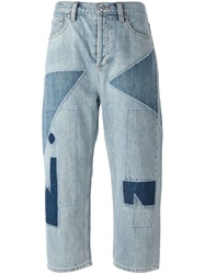 Marc By Marc Jacobs Patchwork Cropped Jeans Blue