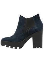 Calvin Klein Jeans Sandy High Heeled Ankle Boots Midnight Dark Blue