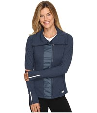 New Balance Novelty Heat Jacket Galaxy Women's Coat Navy