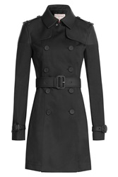 Hunter Cotton Trench Coat Black