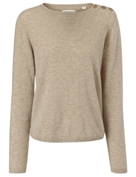 Chinti And Parker Beige Cashmere Pineapple Jumper