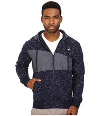 Staple Indigo Zip Hoodie Navy Men's Sweatshirt