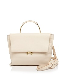 Etienne Aigner Satchel Pebbled Paley Ivory