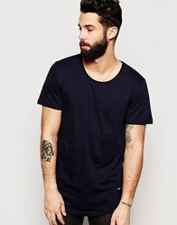 Only And Sons Longline T Shirt Navy
