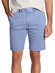 Saks Fifth Avenue Sulfur Dyed Pima Cotton Shorts Royale
