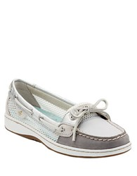Sperry Angelfish Leather Color Block Boat Shoes Gray