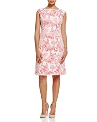 Sue Wong Lace Overlay Dress Coral