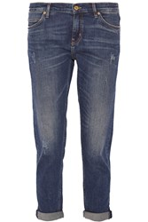 M.I.H Jeans The Tomboy Distressed Mid Rise Boyfriend Jeans Blue