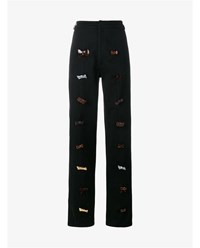 J.W.Anderson Bow Paneled Cotton Trousers Black