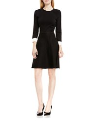 Vince Camuto Petite Flare Sweater Dress Black