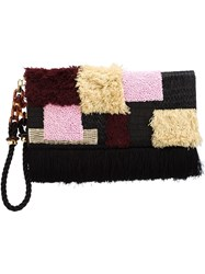 Lizzie Fortunato Jewels 'Tapestry' Clutch Bag Black
