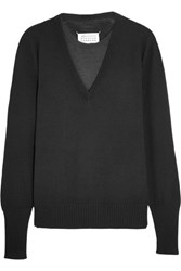 Maison Martin Margiela Layered Wool Sweater Black