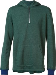 Goodlife Zipped Pullover Hoodie Green