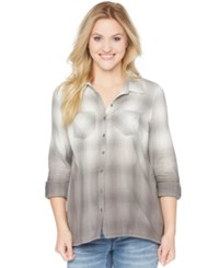 Wendy Bellissimo Maternity Ombre Plaid Shirt