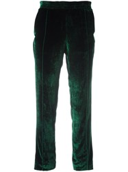 Haider Ackermann Cropped Tapered Trousers Green