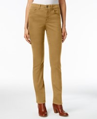 Styleandco. Style Co. Tummy Control Evening Olive Wash Straight Leg Jeans Only At Macy's Tobacco