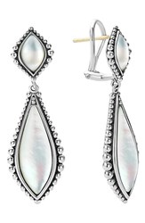 Women's Lagos 'Contessa' Semiprecious Double Drop Earrings White Mother Of Pearl