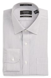 Nordstrom Men's Men's Shop Traditional Fit Non Iron Stripe Dress Shirt Grey Filigree