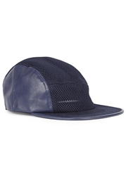 Cast Of Vices Navy Mesh And Leather Cap