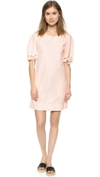 See By Chloe Short Sleeve Dress Peach Whip