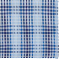 Simonnot Godard Gingham Handkerchief Blue