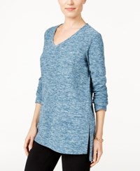 Styleandco. Style Co. Space Dyed Sweatshirt Only At Macy's Rustic Teal