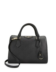 Karl Lagerfeld Saffiano Leather Satchel Black Gold