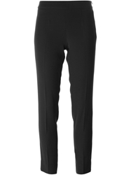 Emporio Armani Cropped Slim Fit Trousers Black
