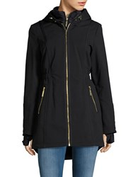 Betsey Johnson Lightweight Zip Front Walker Jacket Black
