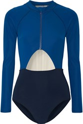 Flagpole Swim Kelly Cutout Color Block Rash Guard Cobalt Blue