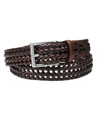Fossil Theo Leather Belt Cognac