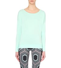 Sweaty Betty Simhasana Jersey Yoga Sweatshirt Atlantic Green