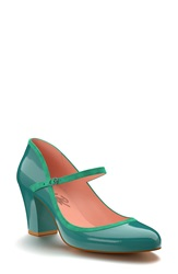 Shoes Of Prey Patent Leather Mary Jane Pump Women Blue Patent