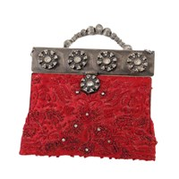 Selection Privee Muse Minaudiere Clutch Red