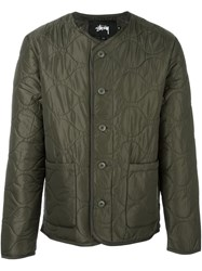 Stussy Quilted Military Jacket Green