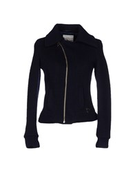 Maison Espin Coats And Jackets Jackets Women Dark Blue