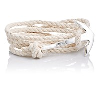 Miansai Men's Hook On Leather Wrap Bracelet Nude