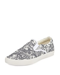 Bucketfeet Cartoon Canvas Slip On Sneaker Gray