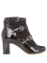 Tabitha Simmons Lucie Suede And Leather Ankle Boots Black