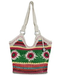 The Sak Ellis Crochet Small Tote Multi Floral
