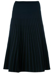 Tomas Maier Pleated Skirt Blue