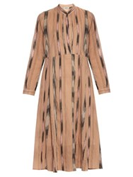 Rachel Comey New Hue Ikat Print Cotton Voile Midi Dress Nude