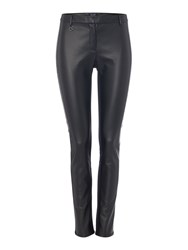 Armani Jeans Faux Leather Trousers Black