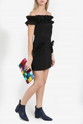 Christopher Kane Women S Off The Shoulder Frill Dress Boutique1 Black