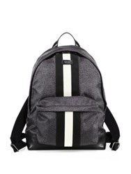 Bally Nylon Laptop Backpack Black