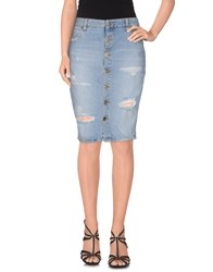 Two Women In The World Denim Denim Skirts Women Blue