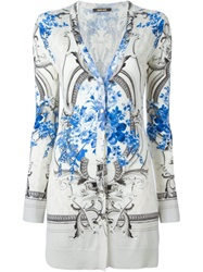 Roberto Cavalli Baroque Print Cardigan Nude And Neutrals
