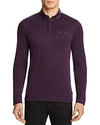 Ted Baker Donut Regular Fit Polo 100 Bloomingdale's Exclusive Deep Purple