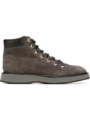 Hogan Lace Up Boots Grey